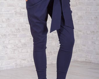 Pants Blue Vision/ Long Pants/ Cotton Pants/ Blue Pants/ Sport Pants/ Extravagant Pants/ Low Rise Pants/ Elegant Pants/ Friends Fashion