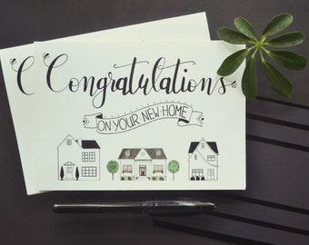New Home Congratulations House Warming Realtor Greeting Card