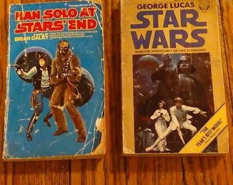 2 book lot Han Solo At Stars' End and Star Wars