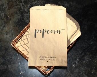 Wedding Popcorn Bags