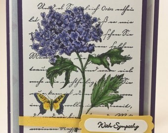 With Sympathy Purple Hydrangea Greeting Card
