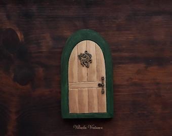 Librarian Fairy Door, Handmade Fairy Door, Solid Wood Miniature Door, Unique Gift, Wall decor, Shelf decor