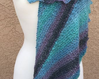 Knit Shawl Pattern: Crescent Sky Shawl, INSTANT DIGITAL DOWNLOAD