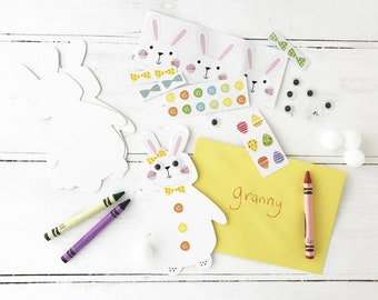 Easter Bunny Card Making Kit Half Term Activities For Children