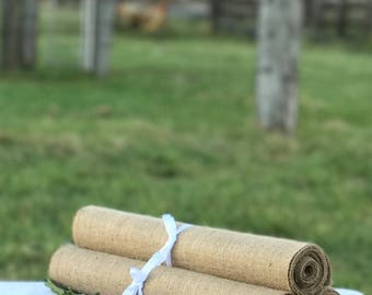30 cm wide x 305 cm long Burlap Table Runner ~ Ideal for Trestle/Banquet Tables