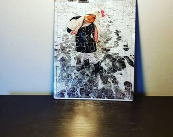 Personalised photo jigsaw puzzle gift