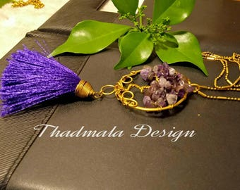 Tree of life stone piece necklace