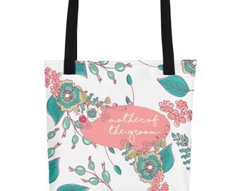 Tote bag - Joyful Flowers - white - Mother of Groom