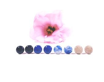 Concrete 10mm Stud Earrings in Various Colors