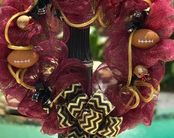 Florida State Football FSU Seminole Wreath
