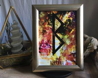 13 x 18 cm runes [energy] Berkana 13 x 18 / runes / Futhark / witch / Wiccan / pagan / Nordic / spiritual
