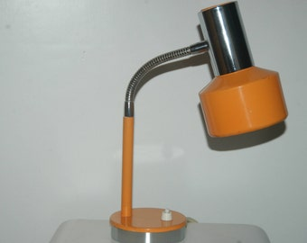 Space Age table Lamp desk lamp from the 70s in orange