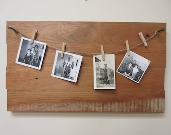 Rustic picture holder, photo holder, reclaimed wood