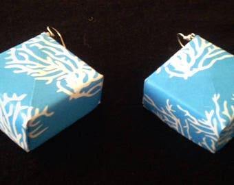 Hand Made Nautical Origami Secret Box Earrings