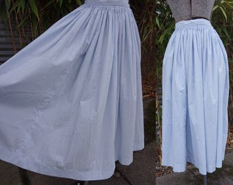 Amazing True Vintage 1950s or early 1960s Small or X-Small Circle Baby Blue Skirt by Ardee Sportswear