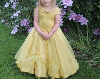 beautiful dress or flower girl dress and the beast