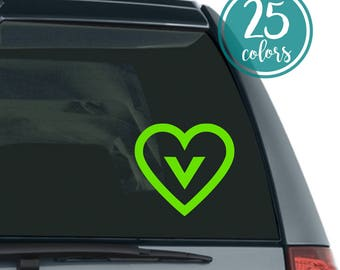 Vegan Decal - Vegan Car Decal - Vegan Sticker - Vegan Car Sticker - Gift for Vegan - Vegan Laptop Decal - Vegan Decal - Vegan Label