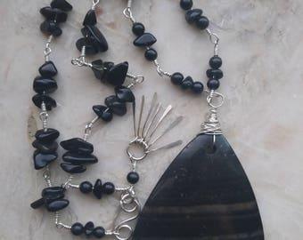 Jasper & Sterling Silver Necklace