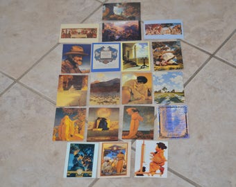 20% off Vintage Comic Images Portrait Of America MAXFIELD PARRISH Collector 19-Cards // Collectible Cards