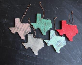 Texas Ornament, Texas Christmas Ornament, Recycled Wood Ornament, Wood Texas Ornament, Wood Texas Christmas Ornament