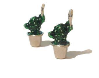1, 2, or 6 BULK Prickly Pear Charms | Cactus Charms | Desert Charm | Cacti | Desert Jewelry | Southwestern | Ready to Ship USA | EN345