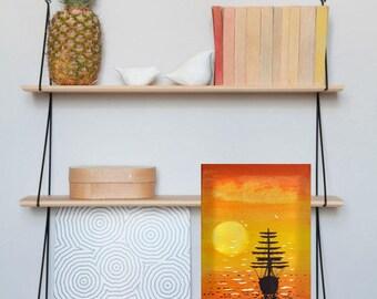 tableau lumineux led d coration murale 39 poissons. Black Bedroom Furniture Sets. Home Design Ideas