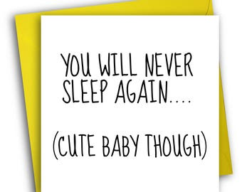 Funny New Baby Card/ New Parent Card/Funny Greetings Card