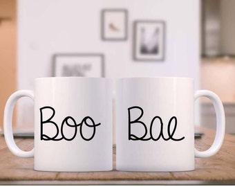 Coffee Mug/Coffee or Tea mugs/ Boo and Bae Coffee Mugs/ 11 oz-15oz Coffee or Tea mugs/Wedding or Anniversary gift/Crimson and Navy