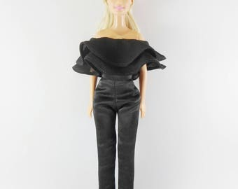 Barbie Clothes ,handmade beautiful jumpsuits black color