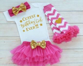 Birthday Girl Outfit, Girls First Birthday Outfit, Baby Girl Outfit, Princess Birthday Outfit, Cake Smash Outfit, Baby Girl Birthday Outfit