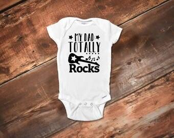 Funny Baby Onesies®, Rock Onesies®, Funny Baby Clothes, Baby Girl Clothes, Baby Boy Clothes, Funny Baby Gift, Daddy Onesies®, Dad Rocks