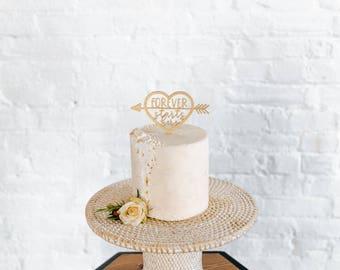 Forever Starts Here Cake Topper