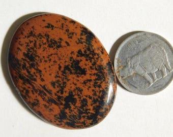 Natural Mahogany obsidian Cabochon Loose  Shape , semi precious Top Quality gemstone 38.50Cts. (38x29x5)mm (H-1)