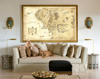 Lord Of The Rings, Middle Earth Map, The Hobbit, Home Decor, Lord Of The Rings Map, Of The Rings Poster, Middle Earth, The Lord Of The Ring