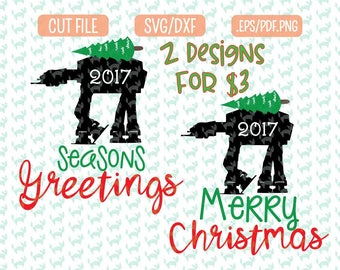 Starwars Christmas SVG, DXF, EPS, png Files for Cutting Machines Cameo or Cricut - Star wars Svg, Christmas Svg Bundle