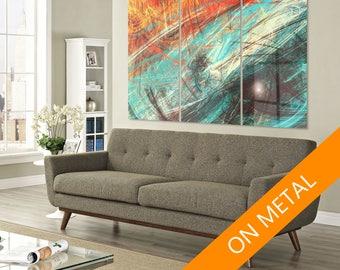 Metal decor print, Abstract metal art, Metal Print, Metal Art, Abstract art, Wall art, Metal decor art, Metal wall art, Abstract painting
