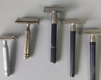 5 Vintage DE Safety Razors