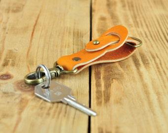 Belt clip for keys, Belt key holder, Belt clip key holder, Leather belt key holder, Keyring belt clip, Key clips for duty belts orange