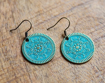 Patina Medallion Earrings