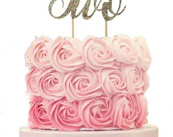 Unicorn  Cake Topper, any age,  First Birthday Cake Topper, One Year Cake Topper, Two Cake Topper, Third Birthday