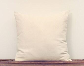 Simple Cotton Cream Colored Pillow Cover
