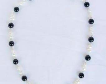 Necklace with Onyx and Pearls