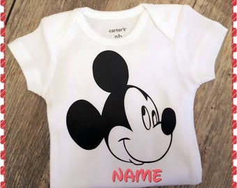 Personalized Mickey Mouse Onesie Or Tee
