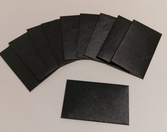 Mini Handmade Envelopes, Gift Card Envelopes, Business Card Envelopes, Black Small Envelopes, Gift Envelopes - set of 10