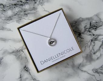 Dainty Evil Eye Neckace, CZ Evil Eye Necklace, Dainty Necklace, Pendant Necklace, Everyday Jewelry, Statement Necklace, Boho Necklace