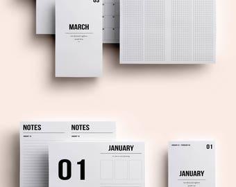 Personal TN Insert | Personal TN Printable | Personal TN Printable Inserts | Personal Insert January - March 2018