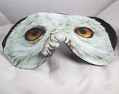 Harry Potter OWL Eye Mask | Sleep Aid Wellbeing | Organic Cotton Bamboo Photoprint | Relax Airplane Travel Luxury Gift Teen Woman Man Vegan