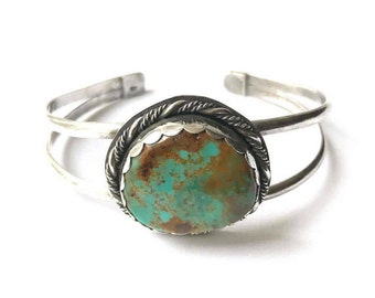 Baja California Mexico Turquoise - Sterling Silver Cuff - One of a kind, One Sale!
