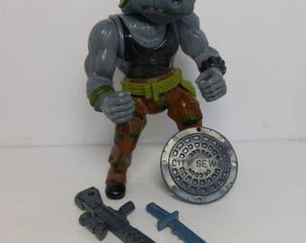 Rocksteady TMNT 1988 Original Series Action Figure Weapons Teenage Mutant Ninja Turtles