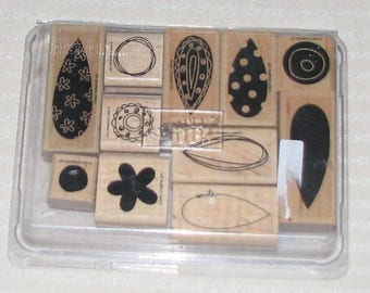 Stampin Up PICK A PETAL Complete Mounted Lot of 11 Scrapbooking Card Making Crafting Retired